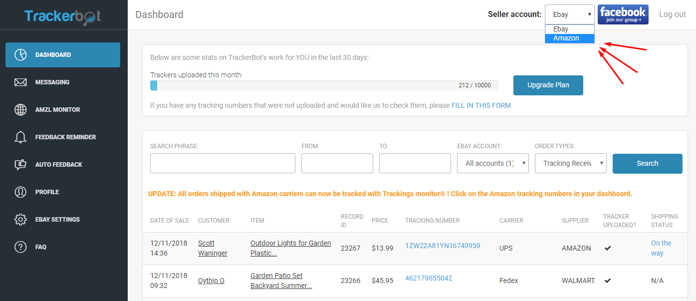 Trackerbot For Amazon Sellers Is Here Trackerbot For Dropshiping
